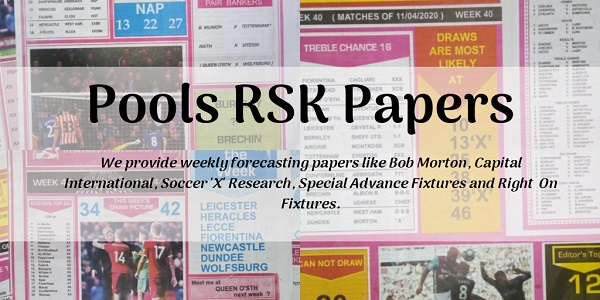 Week 20 Pool RSK Papers 2020: Soccer, Bob Morton, Capital Intl, WinStar, BigWin