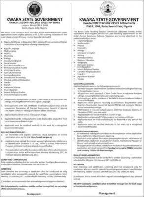 Kwara State UBE and TESOM recruitment exercise