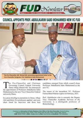FUD gets new Vice Chancellor