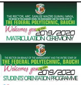 Fed Poly Bauchi announces orientation