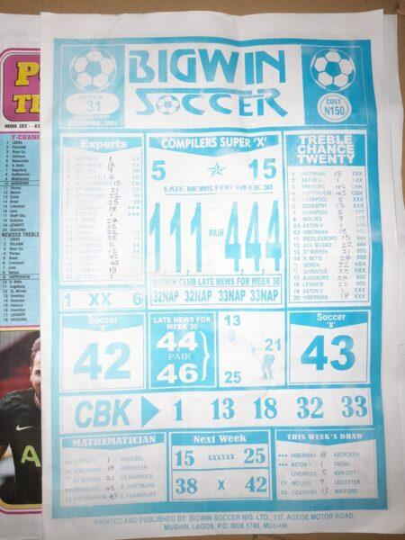 week 31 bigwin soccer 2021 page 1