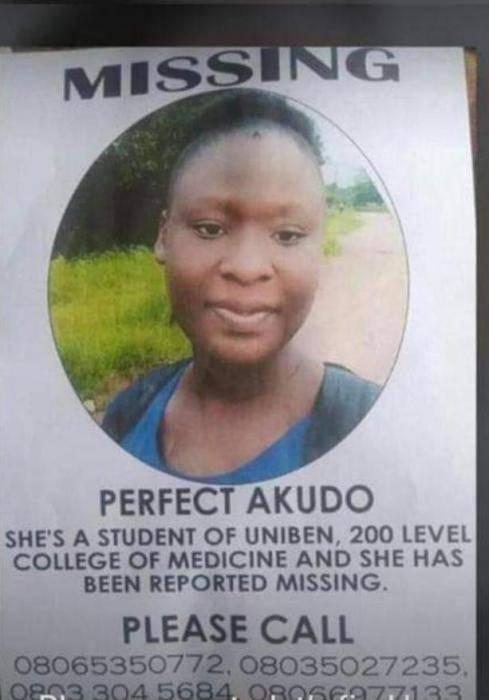 200 level UNIBEN student declared missing