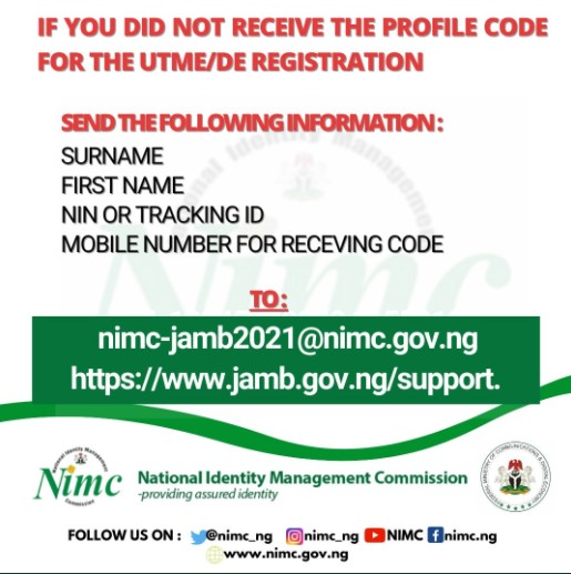 jamb profile code creation issues