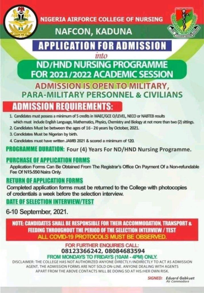 NAFCON Admission Form